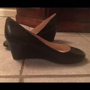 Nine West black wedge heel 7.5